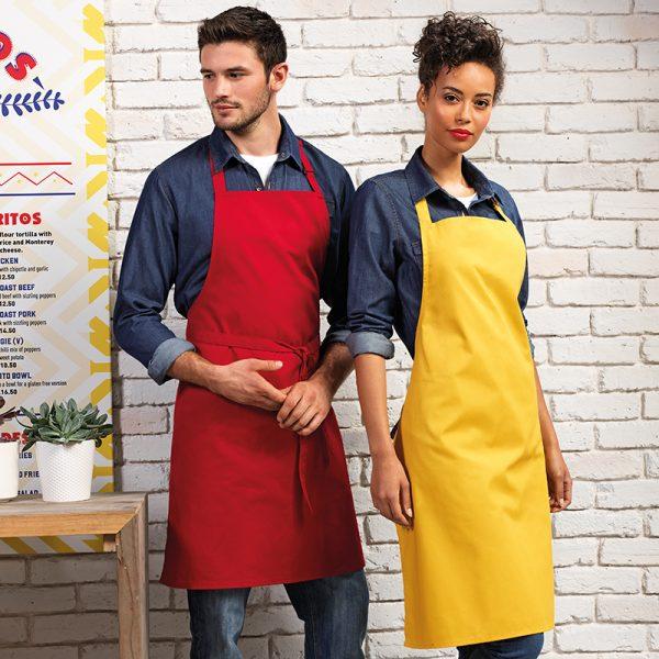 Colours bib apron without pocket
