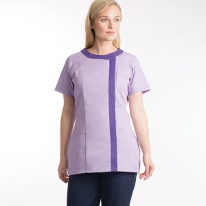 Asymmetric cleaners tunic