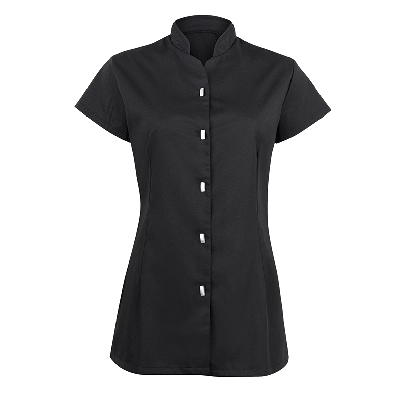 Button front tunic cleaners uniforms housekeeping for Spa housekeeping uniform
